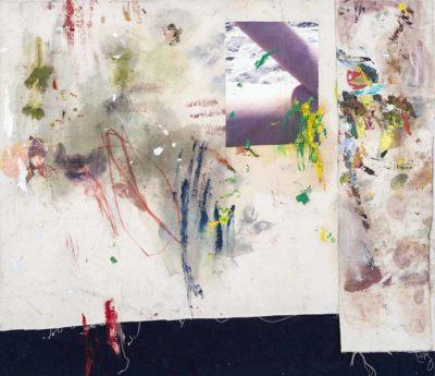 Sin titulo - 2015 - Collage de oleo sobre tela e impresion digital sobre tela - 93x107.5cm