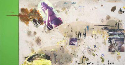 Susy II - 2015 - Collage de oleo sobre tela impresion digital sobre tela y esmalte sobre tela 1 esmalte sobre formica 2 - 100x199_5cm