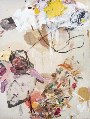 Ella _con helado - 2011 - Collage de oleo sobre tela e impresion digital sobre tela - 162x130cm