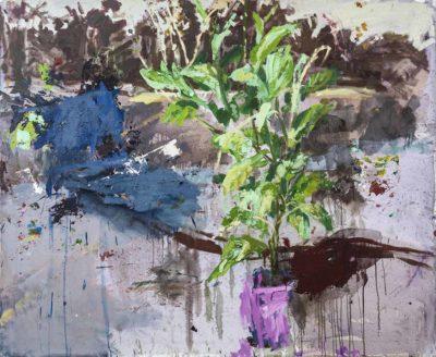 Anamu y manguera - 2019 - Oleo sobre tela - 140x170.5cm