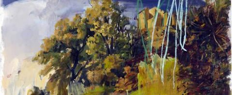 Vicky Neumann - 2010 - Pueblo con - manchas - de origen incierto - acrilico y oleo sobre tela - 170x170cm