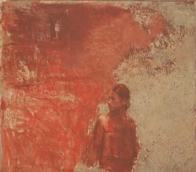 Vicky Neumann - 1995 - Sin Titulo, Encaustica y Oleo, 165x150cm