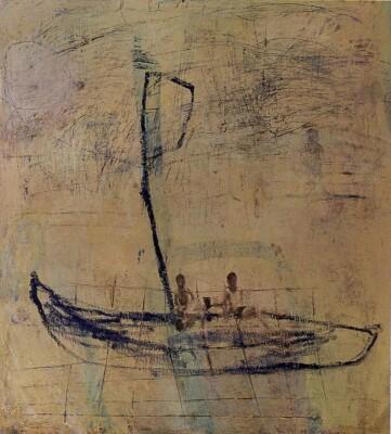 Vicky Neumann, 1997, Barca II, Oleo Y Encaustica Sobre Lienzo, 165x150cm