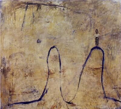 Vicky Neumann, 1997, Nino En Dromedario, Oleo Y Encaustica Sobre Lienzo, 130x145cm