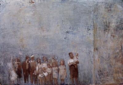 Vicky Neumann, 1997, Retrato De Familia, Oleo Y Encaustica Sobre Lienzo, 150x219cm