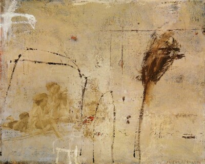 Vicky Neumann, 1997, Sin Titulo, Oleo Y Encaustica Sobre Lienzo, 100x80cm