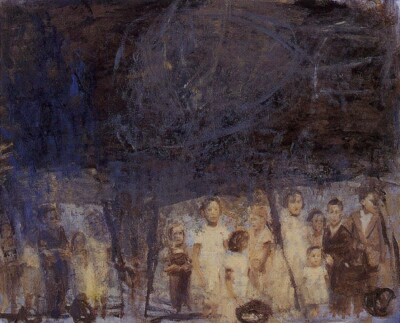 Vicky Neumann, 1997, Varones, Oleo Y Encaustica Sobre Lienzo, 100x80cm
