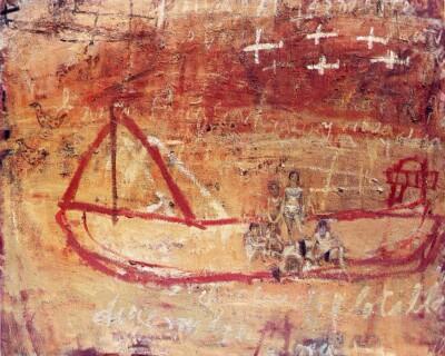 Vicky Neumann, 1998, El Alouette, Oleo Y Encaustica Sobre Lienzo, 130x162cm