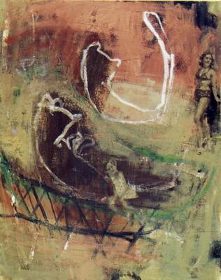 Vicky Neumann, 1998, Lilia Prado, Oleo Y Encaustica Sobre Lienzo, 80x100cm