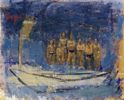 Vicky Neumann, 1998, Sin Titulo 1, Oleo Y Encaustica Sobre Lienzo, 100x80cm