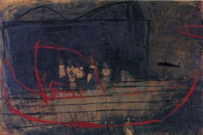 Vicky Neumann, 1998, Sin Titulo 2, Oleo Y Encaustica Sobre Lienzo, 131x190cm