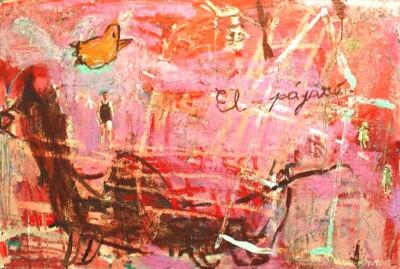 VN-2000-El-Pajaro-Encaustica-Y-Oleo-Sobre-Lienzo-130x195cm