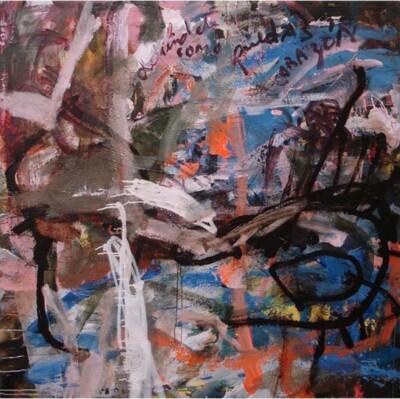 Vicky Neumann, 2006-Defiendete-Como-Puedas-Corazon-Oleo-Y-Encaustica-Sobre-Lino-150x150cm