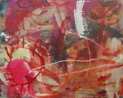 Vicky Neumann, 2006-Mas-Magenta-Mixta-Sobre-Lienzo-129x162cm