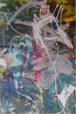 Vicky Neumann, 2006-Que-Demonios-Mixta-Sobre-Lienzo-194x130cm