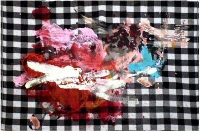 Vicky Neumann, 2008-Still-Life-Sobre-Mantel-de-Lana-Acrilico-Sobre-Manta-de-Lana-94x150cm