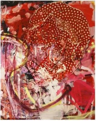 Vicky Neumann, 2008-Vestidito-Rojo-o-Todo-lo-que-ya-no-Hice-Tecnica-Mixta-Sobre-Lienzo-162-130