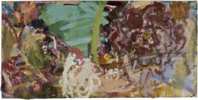 Vicky Neumann, 2009-Arreglo-Floral-Tecnica-Mixta-Y-Collage-Sobre-Lienzo-80x161cm