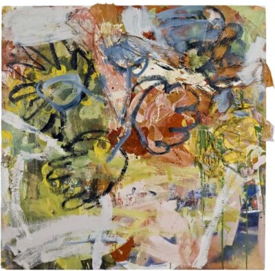 Vicky Neumann, 2009-Florero-Con-Blusita-Tecnica-Mixta-Y-Collage-Sobre-Lienzo--150x150cm