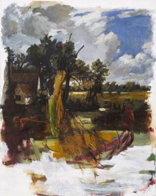 Vicky Neumann, 2010, La Casita de la Pradera, Acrilico y Oleo Sobre Tela, 163x130cm
