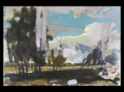 Vicky Neumann, 2010, La Sabana Con Cielo Turquesa, Acrilico y Oleo Sobre Tela, 130x195cm