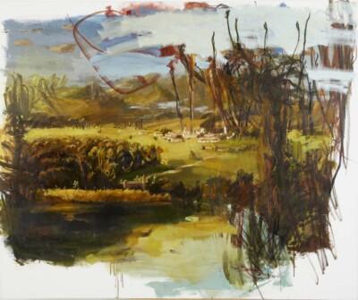 Vicky Neumann, 2010, Moscorrofio (Pueblo Ruso), Acrilico y Oleo Sobre Tela, 150x180cm