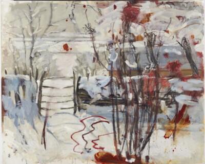 Vicky Neumann, 2010, Paisaje Invernal, Acrilico y Oleo Sobre Tela, 130x163cm