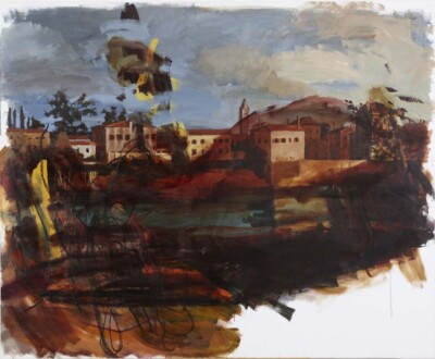 Vicky Neumann, 2010, Pollito Feroz, Acrilico y Oleo Sobre Lienzo, 150x180cm