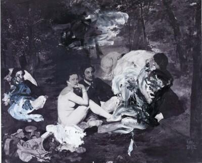 Vicky Neumann, 2011, Parejas, Impresion Digital Y Oleo Sobre Lienzo, 130x160cm