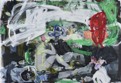 VN-2012-Conversacion-(Casi-Blanco-Y-Negro)-Acrilico-Y-Oleo-Sobre-Lienzo-200x136cm