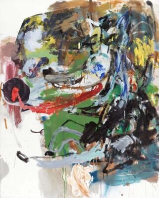 Vicky Neumann, 2012, Picnic Con Lobo Y Postrecito, Acrilico E Impresion Digital Sobre Lienzo,162x130cm