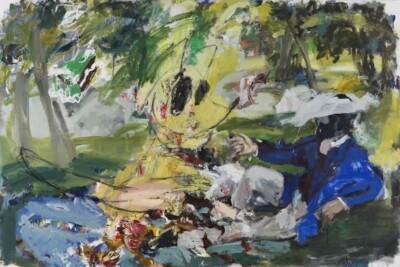 Vicky Neumann, 2012, Picnic Con Zorrito , Oleo Sobre Lienzo, 195x130cm