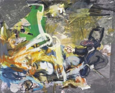 Vicky Neumann, 2012, Picnic De La Bella Y La Bestia, Impresion Digital Y Collage Sobre Lienzo, 160x130cm