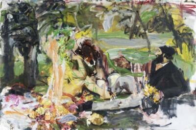 Vicky Neumann, 2012 Picnic Dulce, Oleo Sobre Lienzo, 130x-195cm