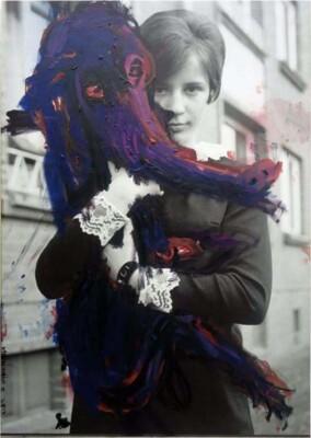 Vicky Neumann, 2014, Elena, Oleo sobre impresión digital, 116x82cm