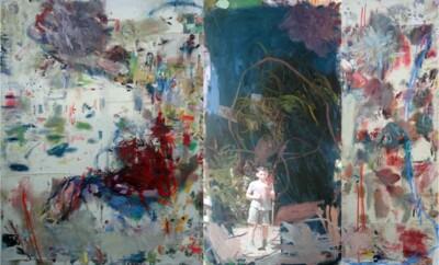 Vicky Neumann, 2014, Relato urbano, Mixta sobre tela, 200x254cm