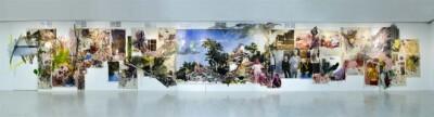 Vicky Neumann, 2015, Obra centro, Acrílico, oleo y mugre sobre tela, collage. 2850x450cm.