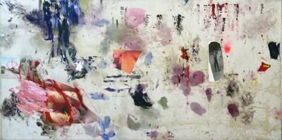 Vicky Neumann, 2015, Alberto, Collage y técnica mixta, 100x205cm