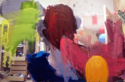 Vicky Neumann, 2015, Bombas, Collage y técnica mixta, 75x114cm