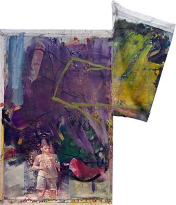 Vicky Neumann, 2015, Daniel, Collage y técnica mixta, 164x141cm