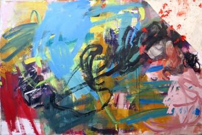 Vicky Neumann, 2015, Desechos, Collage y técnica mixta, 130x195cm