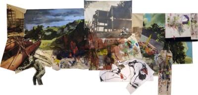 Vicky Neumann, 2015, Hábitat, Collage y técnica mixta, 658x311cm