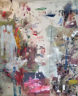 Vicky Neumann, 2015, Katia, Collage y técnica mixta, 200x180cm
