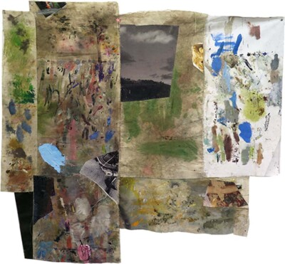 Vicky Neumann, 2015, On the road, Collage y técnica mixta, 146x153cm