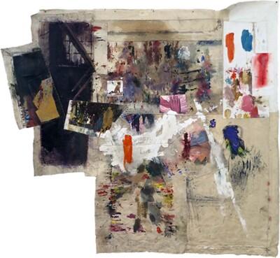 Vicky Neumann, 2015, Se acabó la fiesta, Collage y técnica mixta, 198x217cm