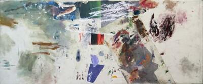 Vicky Neumann, 2015, Segmento, Collage y técnica mixta, 80x193cm