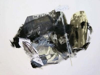 Vicky Neumann, 2015, Sin titulo VI, Collage y técnica mixta sobre papel, 50x68cm