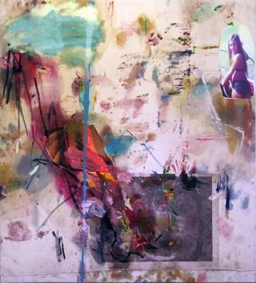 Vicky Neumann, 2015, Susy I, Collage y técnica mixta, 200x180cm