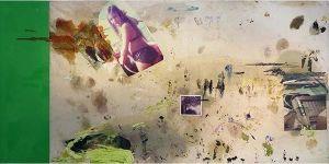 Vicky Neumann, 2015, Susy II, Collage y técnica mixta sobre tela, 199x100cm