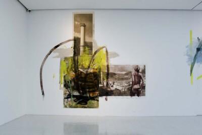 Vicky Neumann, 2015, Obra 02, Acrílico y oleo sobre tela, collage. 450x400cm.